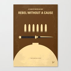 No318 My Rebel without a cause minimal movie poster Canvas Print