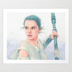 Rey Watercolor Art Print