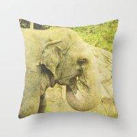 The Elephant  Throw Pillow