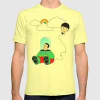 Reality Mens Fitted Tee Lemon SMALL