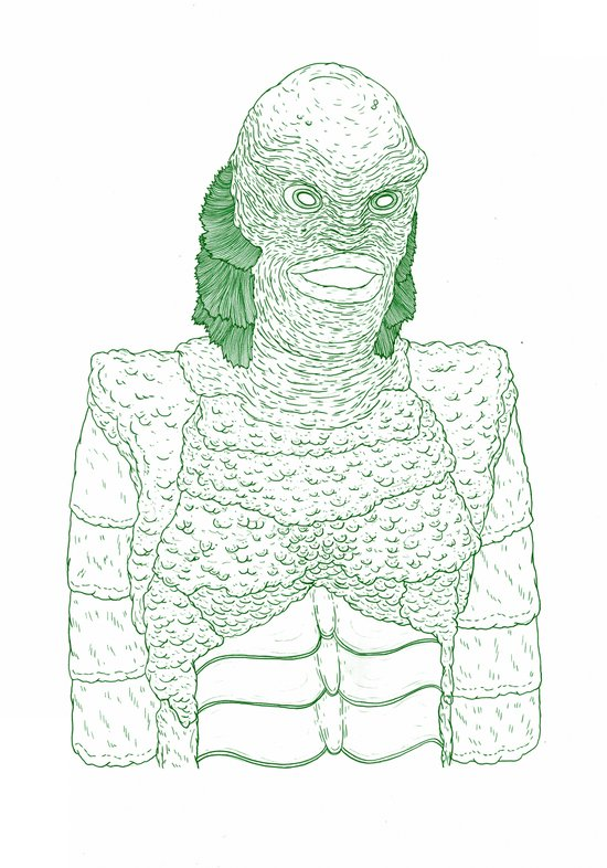 Creature from the Black Lagoon Art Print