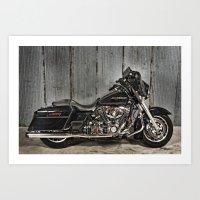 Black Harley Street Glid… Art Print