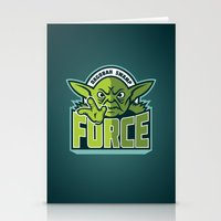 Dagobah Swamp Force - Teal Stationery Cards