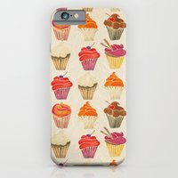 iPhone Cases featuring Cupcakes by Cat Coquillette