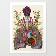 Art Print featuring Adore Anatomical Heart L… by Bedelgeuse