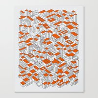 City Grid Day Print Canvas Print