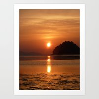 Sunset At Andaman Coast,… Art Print