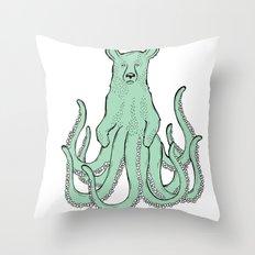 Octobear Throw Pillow