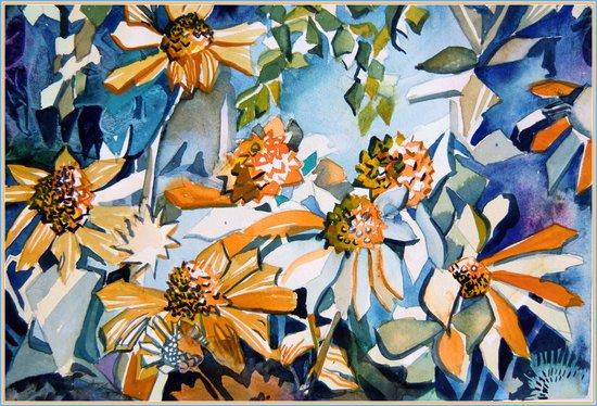 Carnival of Daisies Art Print