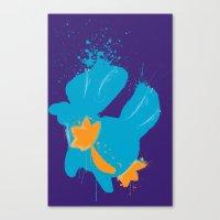 Mudkip Splat Canvas Print