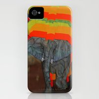 iPhone Cases featuring African Elephant by Ben Geiger