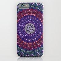 iPhone Cases featuring Blue Mandala Hippie Design by TapestryMandala