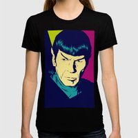 Spock Logic Womens Fitted Tee Black SMALL