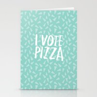 I Vote Pizza  Stationery Cards