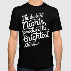 Darkest Nights SMALL Mens Fitted Tee Black