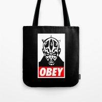 Obey Darth Maul - Star Wars Tote Bag