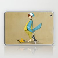 Blue Chickadee Laptop & iPad Skin