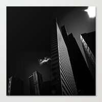 the black building theory - part two Canvas Print