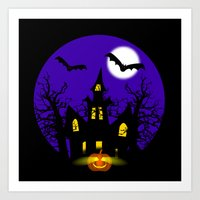 Halloween Night Art Print