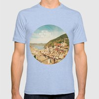 Not All Who Wander Are Lost Mens Fitted Tee Tri-Blue SMALL