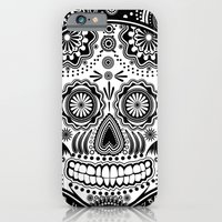 sugar skull iPhone & iPod Cases featuring sugar skull by Ancello