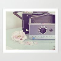 Polaroid, I Love You Art Print