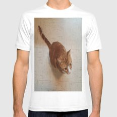 MORRIS ON THE WALL SMALL White Mens Fitted Tee