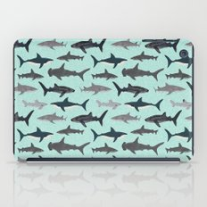 Sharks nature animal illustration texture print marine biologist sea life ocean Andrea Lauren iPad Case