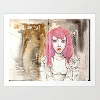 Poppet With Strings Art Print