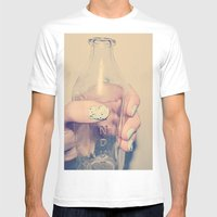 PYREX Mens Fitted Tee White SMALL