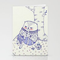 the tree. Stationery Cards