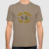 The Humans are Dead Mens Fitted Tee Tri-Coffee SMALL