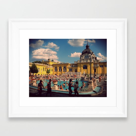Turkish Baths Framed Art Print