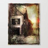 False Sunrise Canvas Print