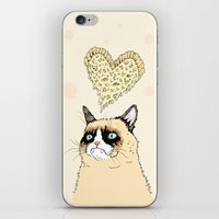 Grumpy Pizza Love iPhone & iPod Skin