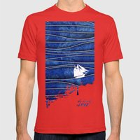 The Lonely Sea Mens Fitted Tee Red SMALL