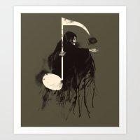 Death Note {Light Brown} Art Print