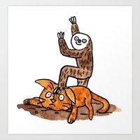 Only Sloth Art Print