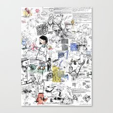 Sketches Canvas Print
