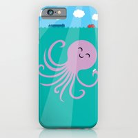 iPhone & iPod Case featuring Octopus Selfie by Mouki K. Butt