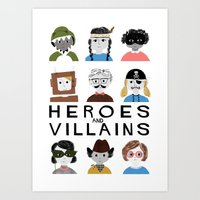 Heroes & Villains Art Print