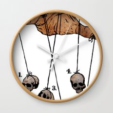 The Five Dancing Skulls Of Doom Wall Clock