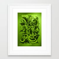 Save The Nature Framed Art Print