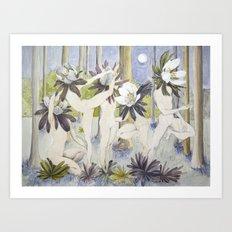 Dance of the Winter Aconite Art Print