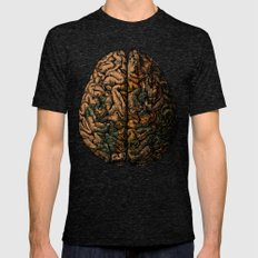 Always On My Mind - Brain Traveling Wanderlust Love Travel Mens Fitted Tee Tri-Black SMALL