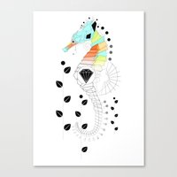 Geoseahorse Canvas Print