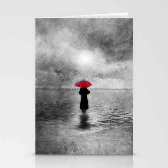 waiting in the sea II  -  by Viviana Gonzalez Stationery Card