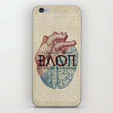Love is...heart and reason iPhone & iPod Skin