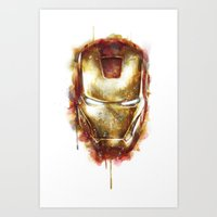 iron man Art Prints featuring Iron Man by beart24