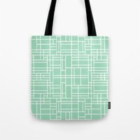Map Outline Mint Tote Bag